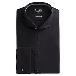 Stvdio by Jeff Banks - Black stretch poplin