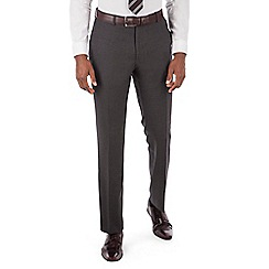 Stvdio by Jeff Banks - Studio Performance by Jeff Banks Charcoal textured plain front tailored fit trouser