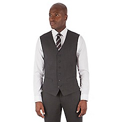 Stvdio by Jeff Banks - Studio Performance by Jeff Banks Charcoal textured 6 button front tailored fit waistcoat