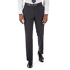 Stvdio by Jeff Banks - Studio Performance by Jeff Banks Blue check front tailored fit trouser