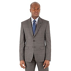 Stvdio by Jeff Banks - Grey jaspe windowpane 2 button front ivy league fit suit