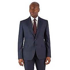 Stvdio by Jeff Banks - Blue birdseye 2 button front ivy league fit suit