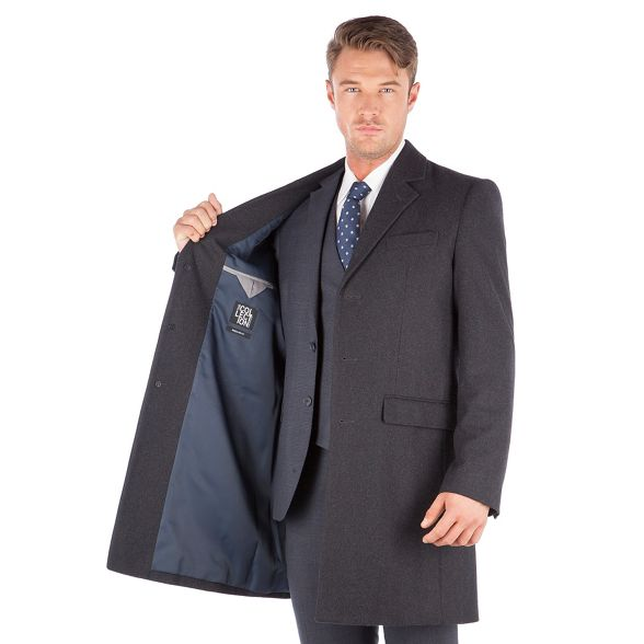 regular The melton fit wool blend Collection overcoat Charcoal qP68pv