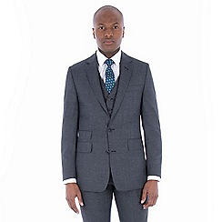 Hammond & Co. by Patrick Grant - Grey jaspe wool blend 2 button front tailored fit st james suit jacket