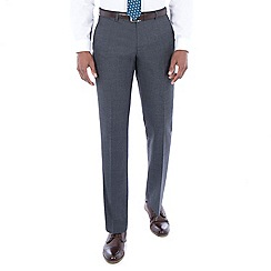Hammond & Co. by Patrick Grant - Grey jaspe wool blend plain front tailored fit suit trouser