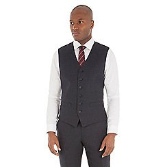 Stvdio by Jeff Banks - Blue birdseye tailored fit performance waistcoat