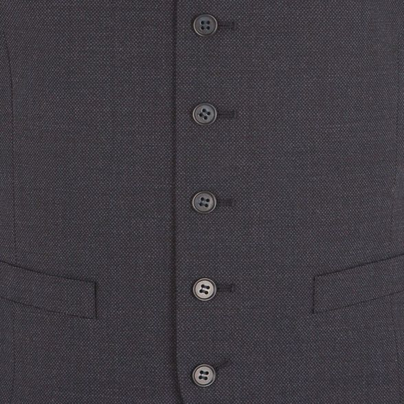 tailored Stvdio Blue Jeff by fit performance Banks waistcoat birdseye W44Tcr