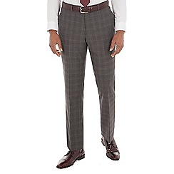 Stvdio by Jeff Banks - Grey check tailored fit performance suit trouser