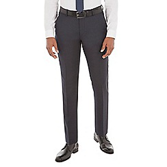 J by Jasper Conran - Navy micro wool blend tailored fit suit trouser