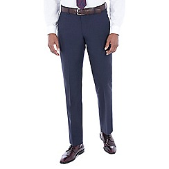 J by Jasper Conran - Navy with rust texture wool blend tailored fit suit trousers