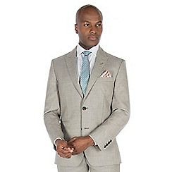 J by Jasper Conran - Champagne textured pure wool tailored fit suit jacket