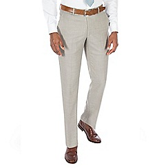 J by Jasper Conran - Champagne textured pure wool tailored fit suit trouser