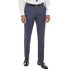 Ben Sherman - Deep blue micro wool blend tailored fit suit trouser