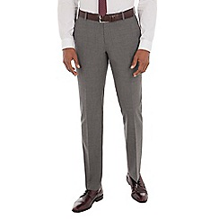 Ben Sherman - Grey textured wool blend tailored fit suit trouser
