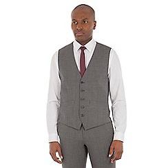 Ben Sherman - Grey textured wool blend tailored fit waistcoat