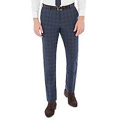 Ben Sherman - Airforce blue wool blend slim fit trouser