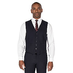 CENTAUR - Navy semi plain regular fit waistcoat