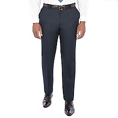 Centaur Big & Tall - Midnight navy birdseye regular trouser