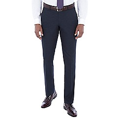 The Collection - Navy birdseye tailored fit trouser