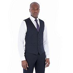 The Collection - Navy tonal birdseye tailored waistcoat