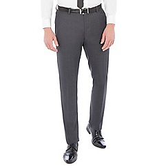 Red Herring - Charcoal textured with tipping slim fit suit trouser
