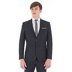 Red Herring - Deep slate blue gingham slim fit suit