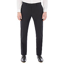 Red Herring - Navy jacquard suit trousers