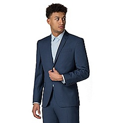 Racing Green - Bright blue pick and pick athletic fit suit