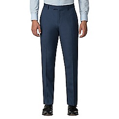 Racing Green - Bright blue pick and pick athletic fit trousers