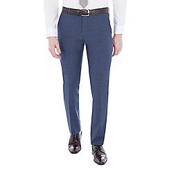 Ben Sherman - Cornflower blue double breasted slim trousers