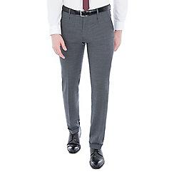 Ben Sherman - Grey structure micro check slim trousers