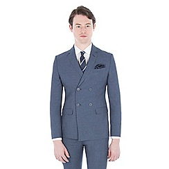 Red Herring - Blue jaspe double-breasted skinny fit jacket