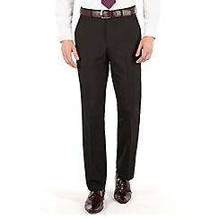 The Collection - Black plain regular fit trouser