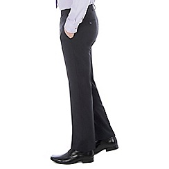 46497_0047871A: Navy twill machine washable tailored fit wool blend formal trouser