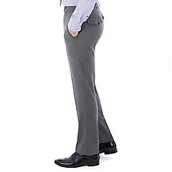 Jeff Banks - Grey puppytooth machine washable tailored fit wool blend formal trouser