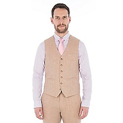 Jeff Banks - Oatmeal pure linen tailored fit waistcoat
