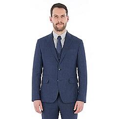Jeff Banks - Blue pure linen tailored fir suit jacket