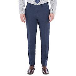 Jeff Banks - Blue pure linen tailored fit suit trouser
