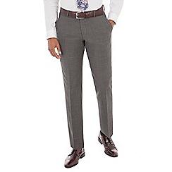 J by Jasper Conran - Charcoal pindot tailored fit trouser