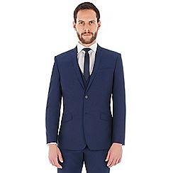 Occasions - Blue plain regular fit jacket