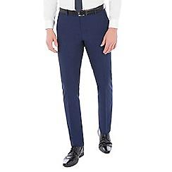 Occasions - Blue plain regular fit trousers