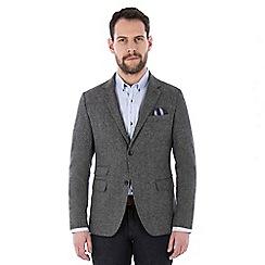 Jeff Banks - Grey multi nep weave blazer