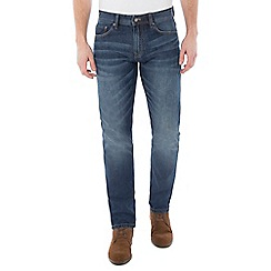 Jeff Banks - Mid blue stone wash jeans