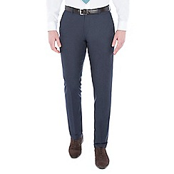 Racing Green - Navy textured tailored trouser