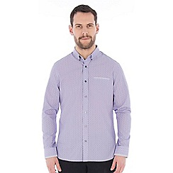 Jeff Banks - Lilac printed stripe shirt