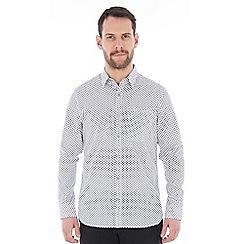 Jeff Banks - White daisy print shirt