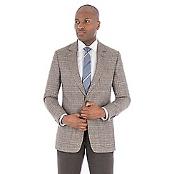 Hammond & Co. by Patrick Grant - Brown with blue check pure linen tailored fit suit