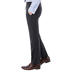 Jeff Banks - Navy plain machine washable slim fit wool blend formal trouser