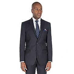 J by Jasper Conran - Blue textured wool blend tailored fit suit jacket
