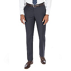 J by Jasper Conran - Blue textured wool blend tailored fit suit trouser